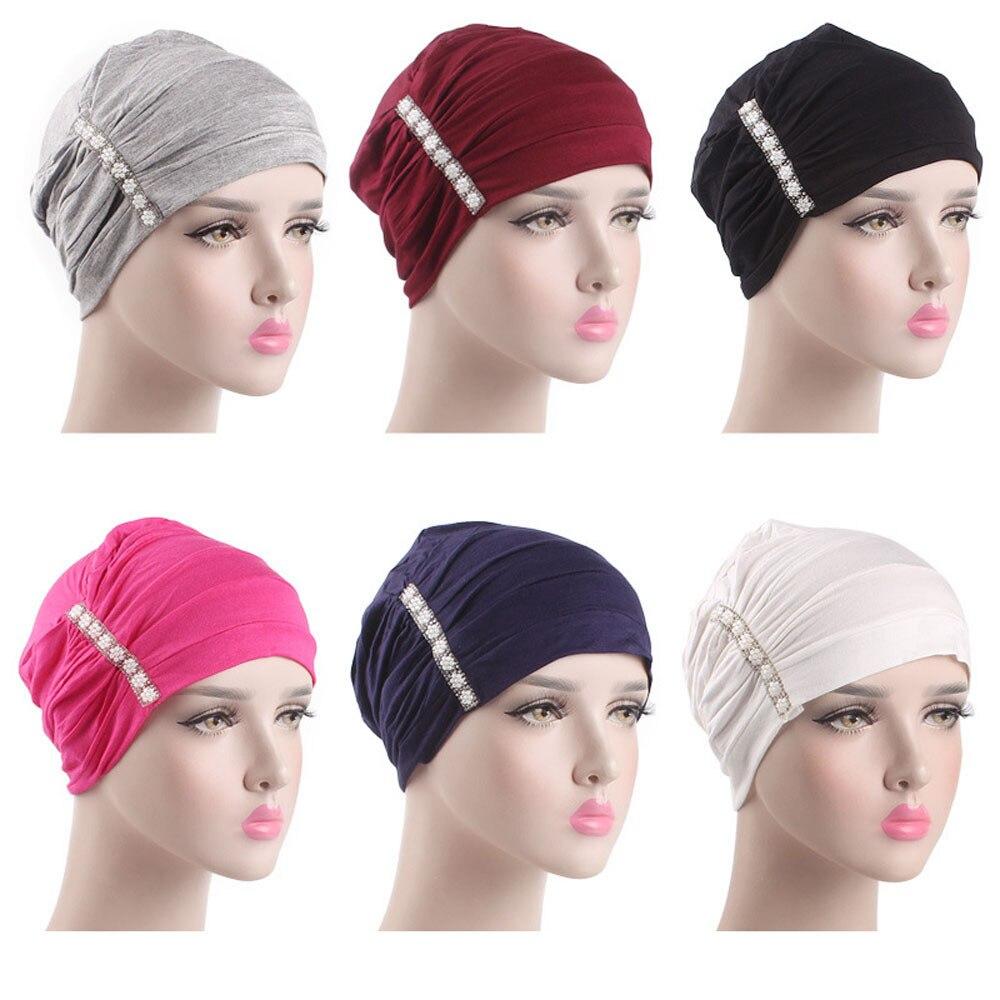 Bright 2019 Merry Christmas Cap Women Elastic Hijab Cancer Hat Chemo Turban Wrap Cap Hair Loss Head Scarf Girl Friend Dropshipping 2t5$ Moderate Price