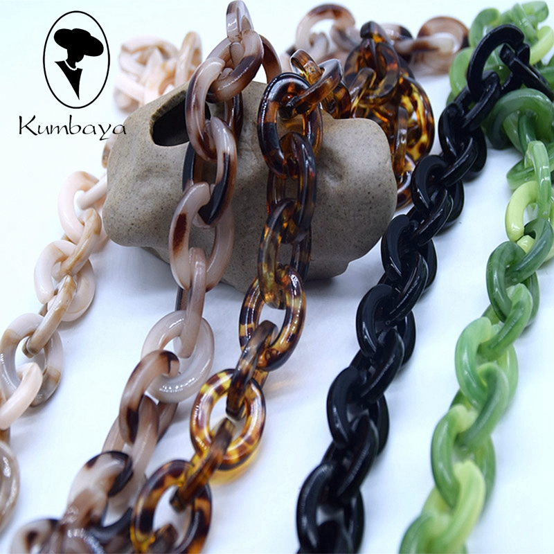 Exaggeration Acrylic Necklaces Strands Parts Twist Bag Chains
