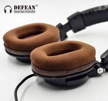 Brązowy welur wkładki do uszu poduszki dla audio technica ATH M50 M50S M50X M40 M40S M40X