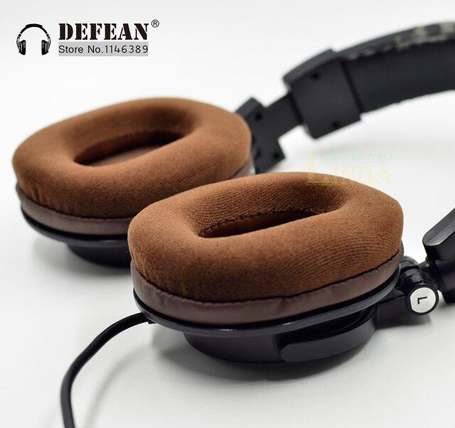 Bruin Velours oorkussens kussen voor Audio technica ATH M50 M50S M50X M40 M40S M40X