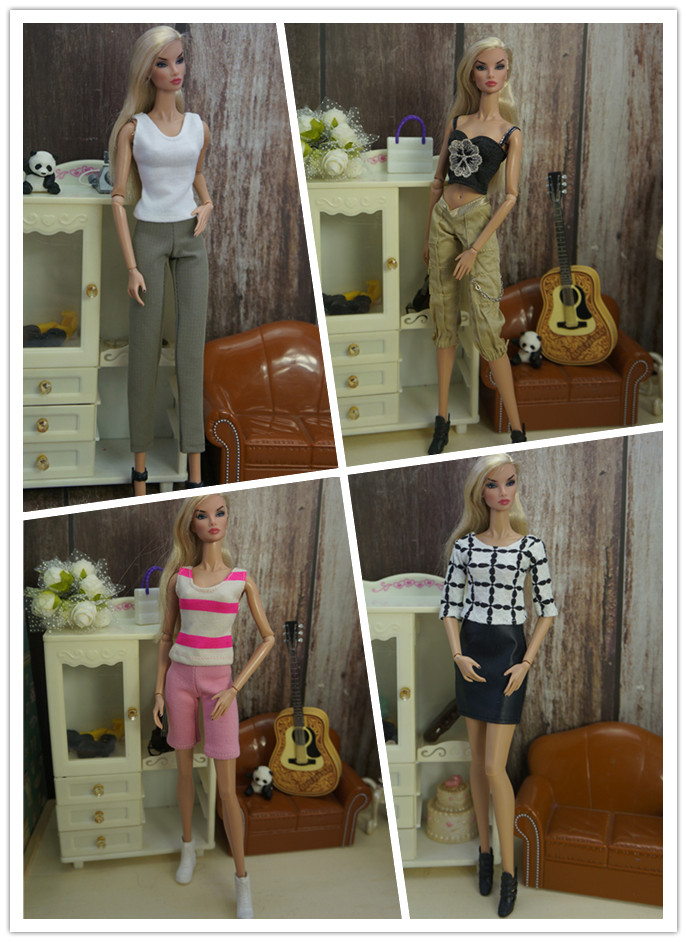 Outfit Handmade Office Suit Casual Clothes 1/6 Doll Accessories Top Fashion Skirt For Barbie Noble Doll Best Child Girls'Gift