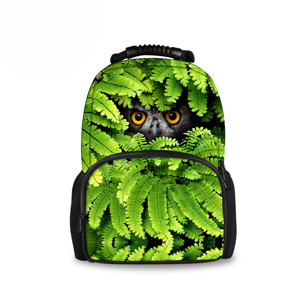 Luxury Animal Owl Leopard Printing Children School Bags High Quality Schoolbag for Kids Teenager Boys Fashion Men Travel Bags