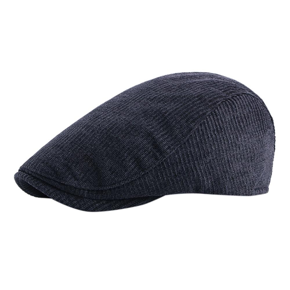 ChamsGend Mens Winter Warm Corduroy Tweed Newsboy Golf Gatsby Ivy Cap Driving Beret Hat scarf men brand 180126