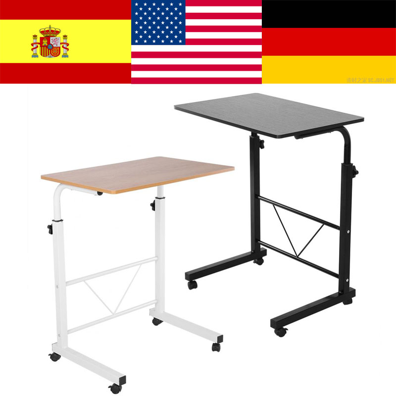 Height Adjustable Laptop Computer Table Standing Desk Movable Sofa Bedside Cart Tray laptop standaard computer table for bed