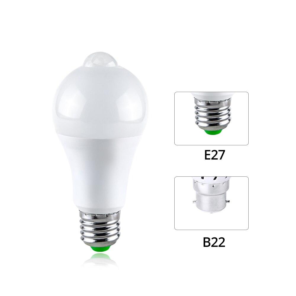 Image 2 - B22 E27 LED Night Light Motion Activated ON/OFF PIR Motion Sensor LED Lamp Light Smart Induction Bulb Stair Hallway Night Lamp-in Night Lights from Lights & Lighting