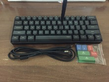 POKER MINI 60 black mechanical keyboard compact cherry mx brown switch gaming keyboard PBT keycap
