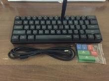 POKER MINI 60 black mechanical font b keyboard b font compact cherry mx brown switch gaming