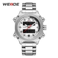 WEIDE Men Sport Watches Top Brand Luxury Stainless Steel Quartz Men's Business Watch Fashion Wristwatch Clock Relogios Masculino