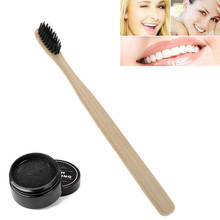 Bamboo Charcoal Toothpaste Whitening Tooth Powder With Toothbrush Oral Hygiene Cleaning Set For Teeth Care Tool  H7JP