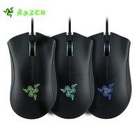 Original Razer DeathAdder 3500 DPI Gamepad Wired Ergonómico Gaming Mouse de Tres colores LED Blacklight para diestros Para PC