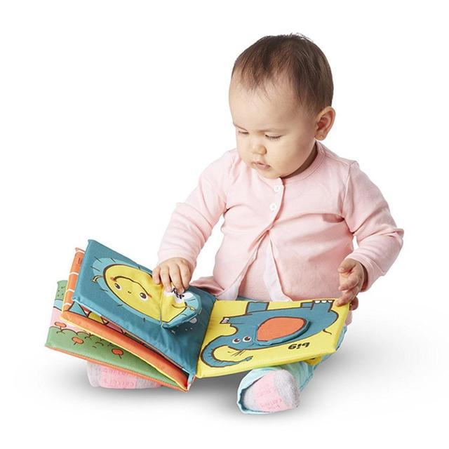 3D Early Education Cloth Book  Soft Baby Rattles Baby Toys Teether Infant Colorful Animals Cartoon Book For Newborn Kids Toys