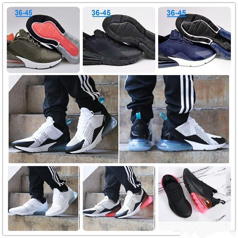 d2cd6574ae2bd 2018 Wholesale high quality Mens Air Flair Triple Black 270 AH8050 Running  Shoes Womens air sole