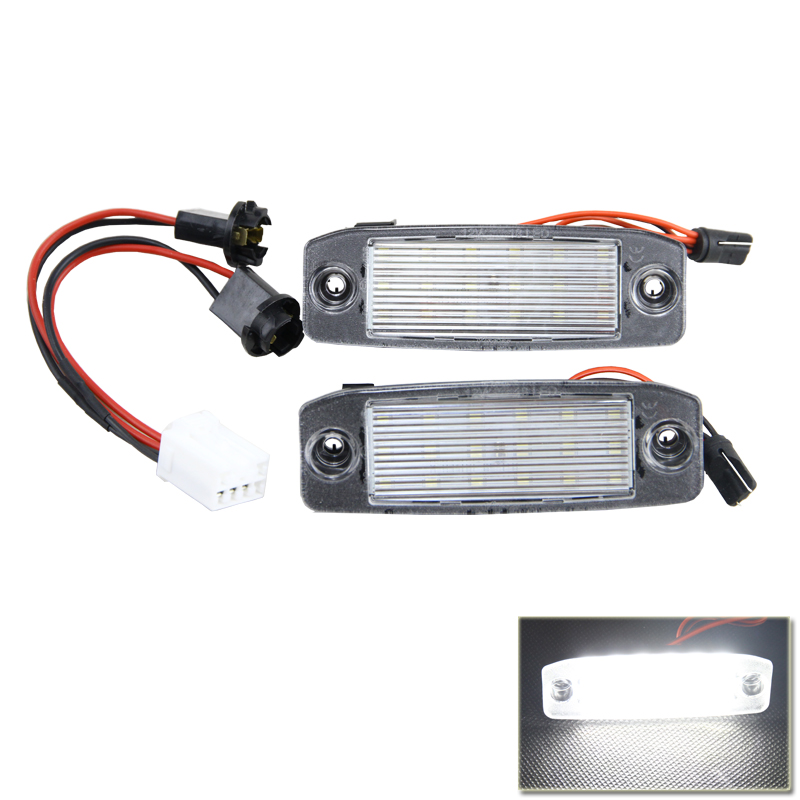 18-SMD High Quality Led SMD Number License Plate Light Lamps For Kia  Sportage 11-15 Car-Styling Vehicles White Tail Rear Lamp auto car led number license plate lights lamp bulb car styling xenon white for mitsubishi asx vehicles tail rear lamp