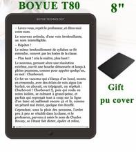 """Новый boyue T80 книгу 8 """"E-Ink экран 8 г Android 4.2.2 передний свет сенсорный экран многоязычный WI-FI читалка бесплатная доставка"""