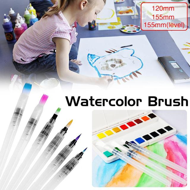Portátil cepillo de pintura de agua Color cepillo de lápiz suave acuarela cepillo pluma pincel para principiantes de dibujo y pintura arte suministros