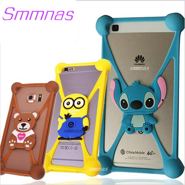 newest 04b19 56e71 US $1.99 |Universal Cartoon Minnie Kitty Stitch Phone Cover Case For Xolo  Era 1X X 4G 4K For Polaroid Snap 5