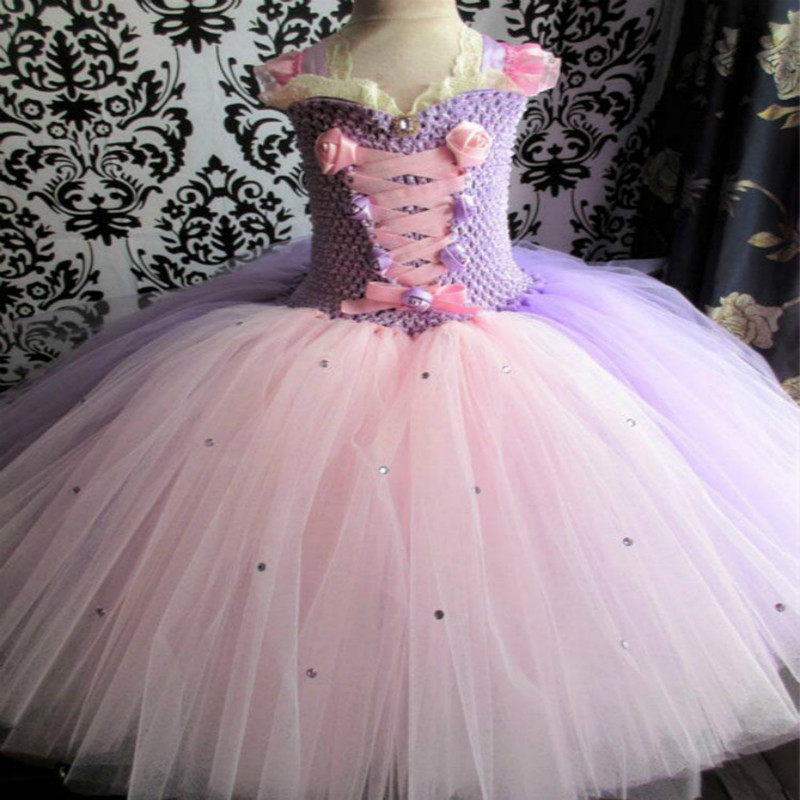 Flower Girls Tutu Dress for Wedding Birthday Party Lace Strap Mix Color Girls Boutique Ball Gown Tulle Dress with Flowers princess flower girls tutu dress with lace straps girls evening dress for birthday party wedding flower ball gown handmade dress