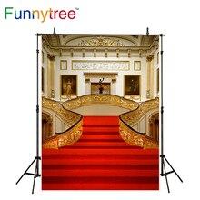 Funnytree Luxo palácio fotografia fundo tapete vermelho escultura real interior fundo estúdio de fotografia prop photobooth