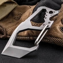 цена на Outdoor multi-function edc mini tool, field survival tool, self-defense key hang buckle, box knife, wrench screwdriver.