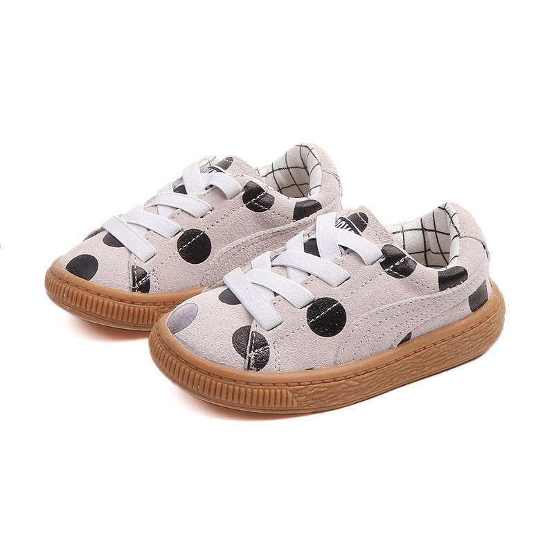 все цены на Children Sneakers Autumn New Cute Wave Point Kids Shoes Fashion Boy Sport Shoes Toddler Baby Girl Casual Shoes 1 2 3 4 5 6 years онлайн