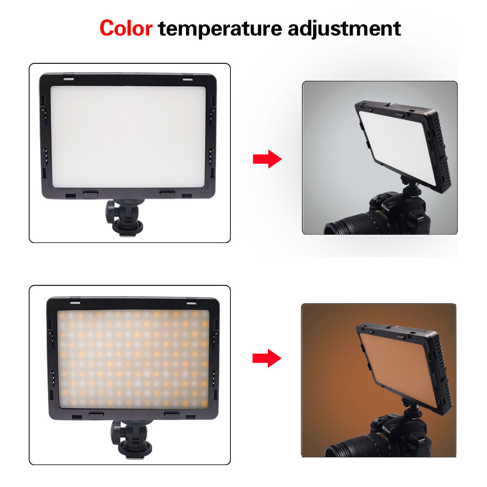 Mcoplus Air-1000B Bi Color Temperature 3200-5500K CRI/TLCI 95 Camera Photo LED Video Light for Canon Nikon Sony Fuji Camera mcoplus air 1000b led video light pockable cri 95 display bi color