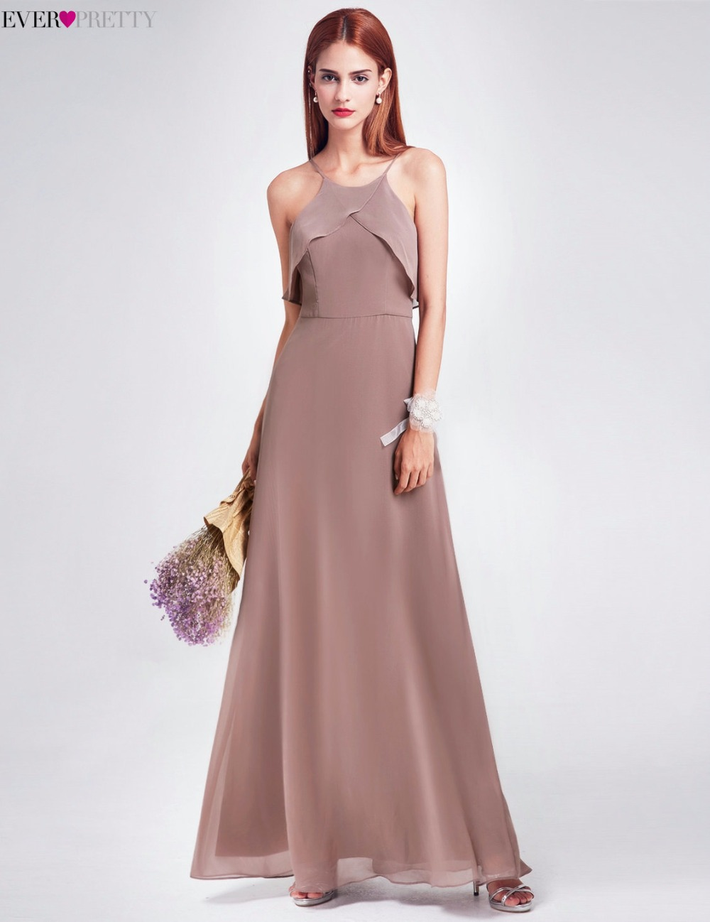 Elegant bridesmaid dress ever pretty ep07130 long backless elegant bridesmaid dress ever pretty ep07130 long backless spaghetti straps charcoal wedding occasion gowns 2017 new girl dress in bridesmaid dresses from ombrellifo Images