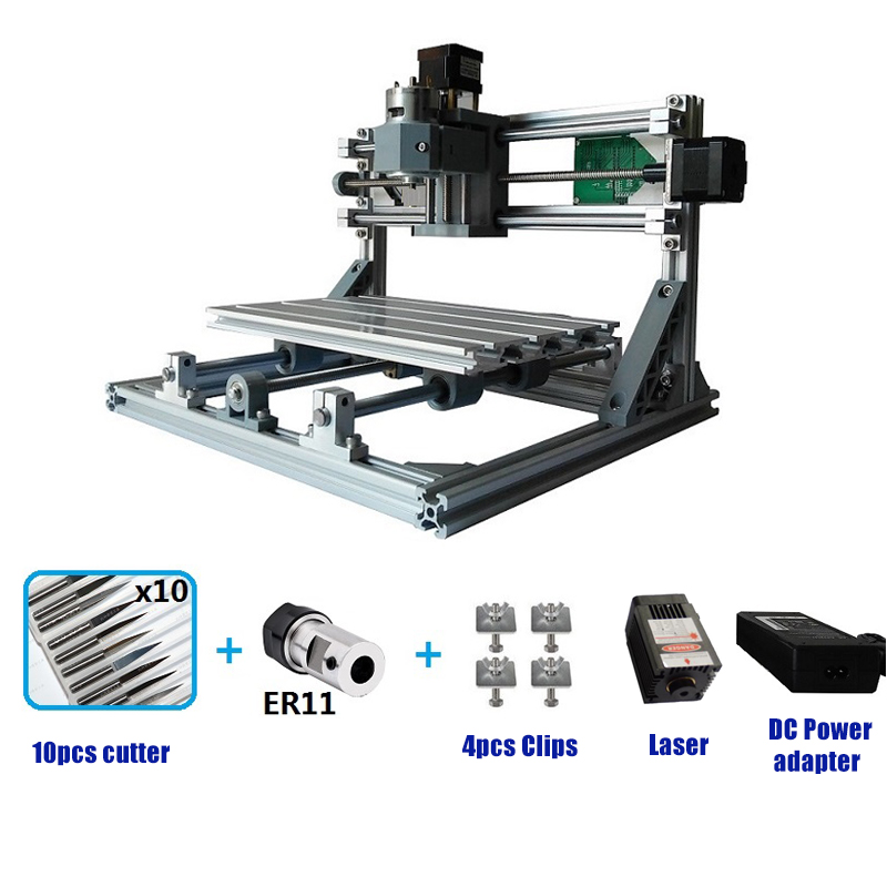 Mini Laser Engraving Machine CNC 3018 Laser Engraver DIY Hobby Cutting Tools ER11 GRBL For Wood PCB PVC Mini CNC Router CNC3018(China)