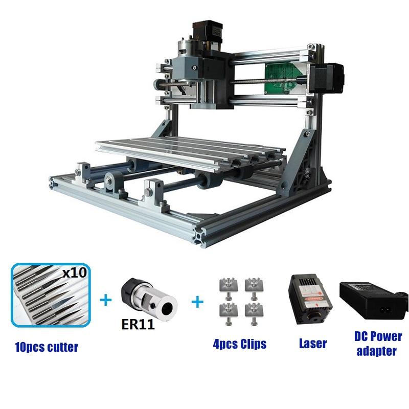Mini Laser Engraving Machine CNC 3018 Laser engraver DIY Hobby Cutting Tools ER11 GRBL for Wood PCB PVC Mini CNC Router CNC3018