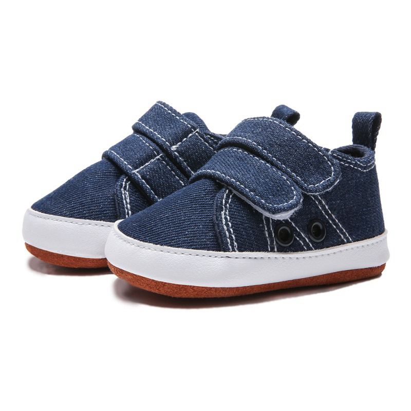 Newborn Baby Boys Leisure Handsome Kids First Walkers Shoes Infant New Born Babe Crib Canvas Soft Bottom Striped Loafer Shoes