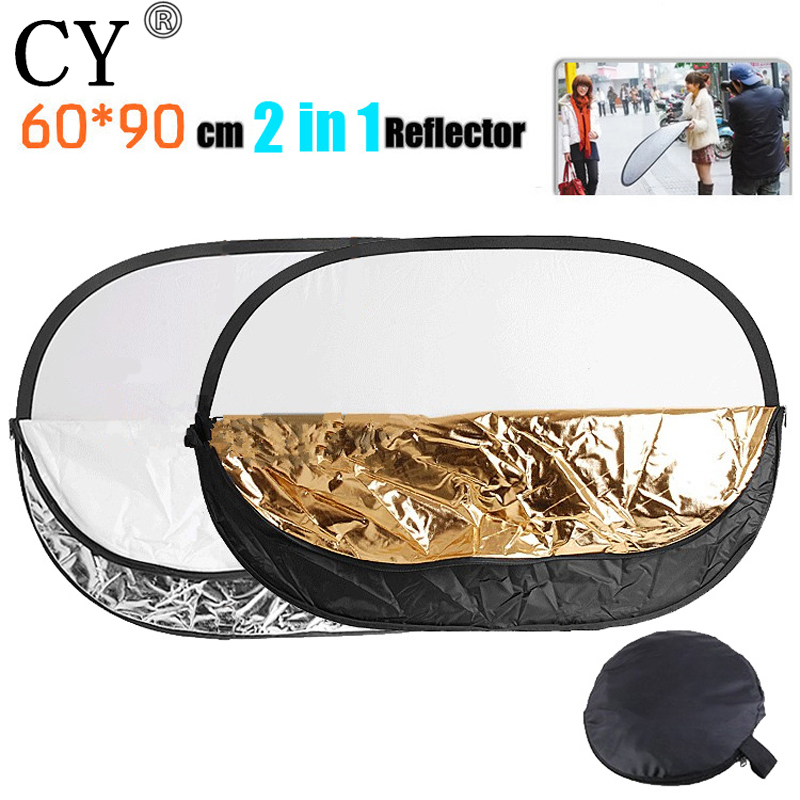 60x90cm 2 in 1 Handheld Portable Collapsible Light Oval Photography Reflector Studio Multi Disc Photo Studio Accessories