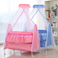 Rocking Bed Cradle Crib Baby Bed Multifunction Baby Swing Bed Lullaby Bb Rocking Wheel Roller
