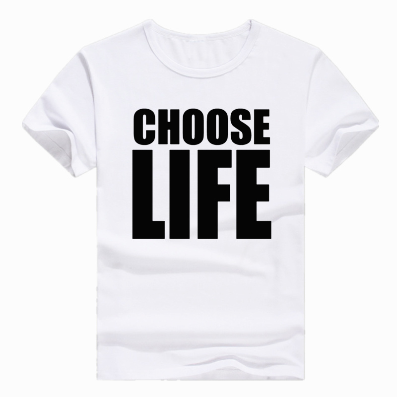 Asian Size Print Hipster George Michael Choose Life T-shirt Short Sleeve O-Neck Tshirt For Men And Women HCP4330