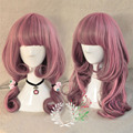 kk 002115 Long Wavy Hair Full Wigs Pink Gradient Wig Anime Cosplay 5.2