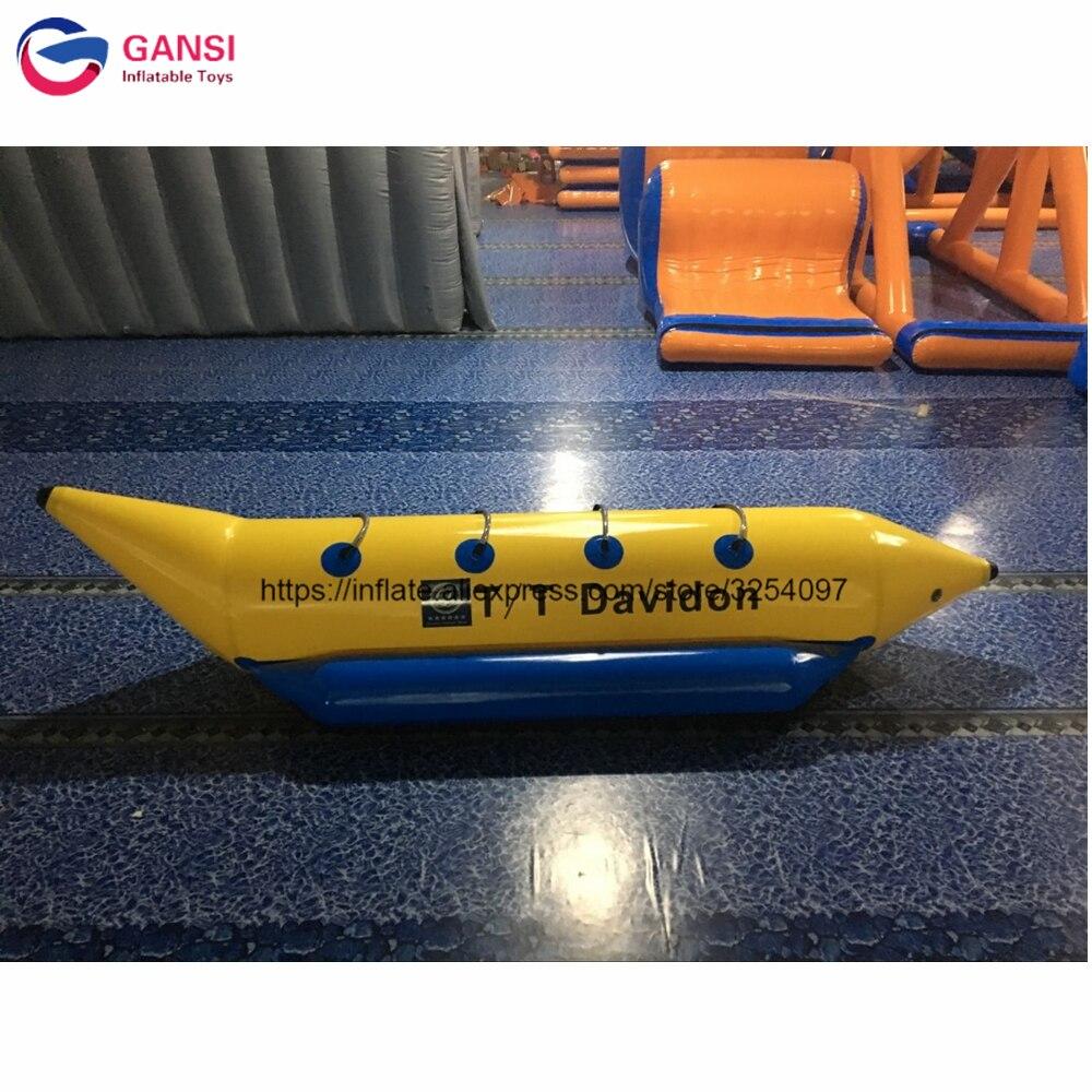 Bateau de poisson de mouche remorquable de 4 personnes 0.9mm bâche de PVC poisson volant bateau gonflable de banane de mer pour des jeux d'eau
