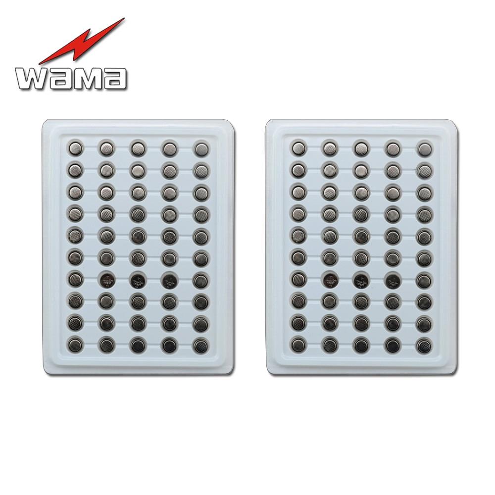 100 pcs/2 pack de Wama Novo CR927 3 V 30 mAh Botão Célula Tipo Moeda Baterias DL927 BR927 ECR927 Lâmpadas De Lítio 5011LC Bateria Eletrônica