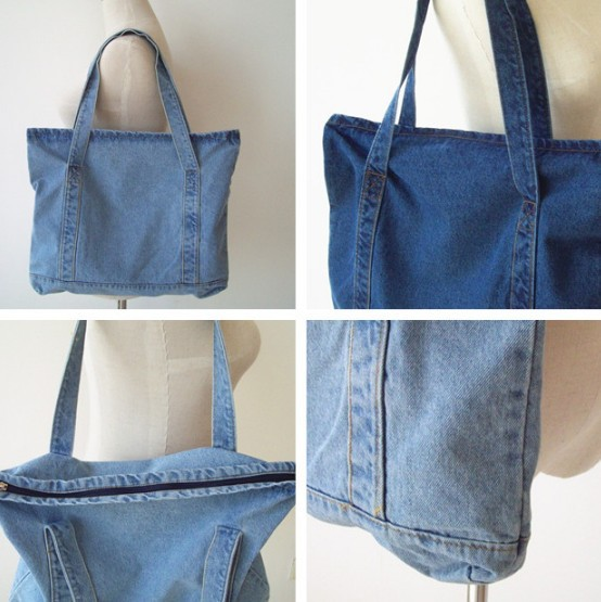 Hot Japanese women handbag blue denim handbag large capacity denim ...