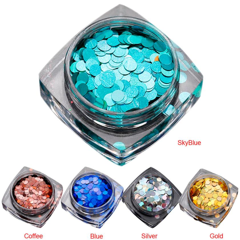 1.5g Hot Fashion Mixed Mini Round Thin Nail Art Glitter Paillette Nail Tip Bottle Gel Polish Decoration Manicure Tools 2JY3 qt beauty 1 bag gold silver glass 3d nail art decoration gel nail polish nails accessories mini round balls caviar beads