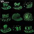 Masculino chapéu Snapback Hip hop bonés de beisebol de fluorescência luminosa noite andar tampa de segurança YY0359