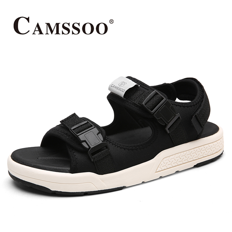 2018 Camssoo Mens Water Shoes Summer Beach Shoes Aqua Shoes Outdoor Light Weight Sandals For Men Grey Black Free Shipping 6131
