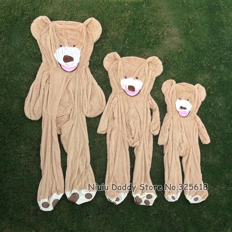 Niuniu Daddy 80cm ke 260cm Giant Teddy Bear Skin American Bear Plush - Mainan lembut - Foto 4