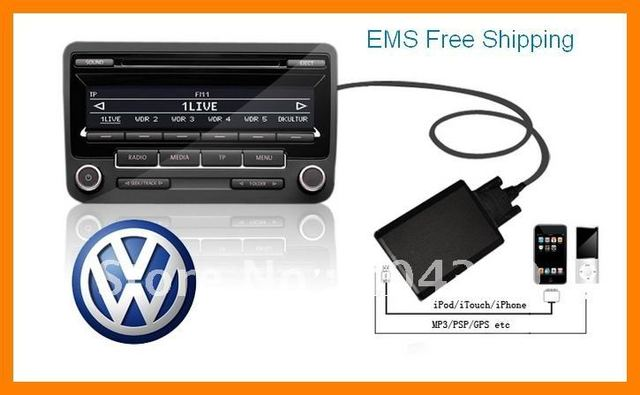free shipping for ipod adapter interface for v w polo golf jetta rh aliexpress com RCD 310 Rns 300