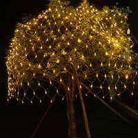 JSEX LED Weihnachten Licht Beleuchtung String Fairy Lichter Girlande Lampen Reticulate Lampe String Licht Ziemlich Licht Batterie Betrieben