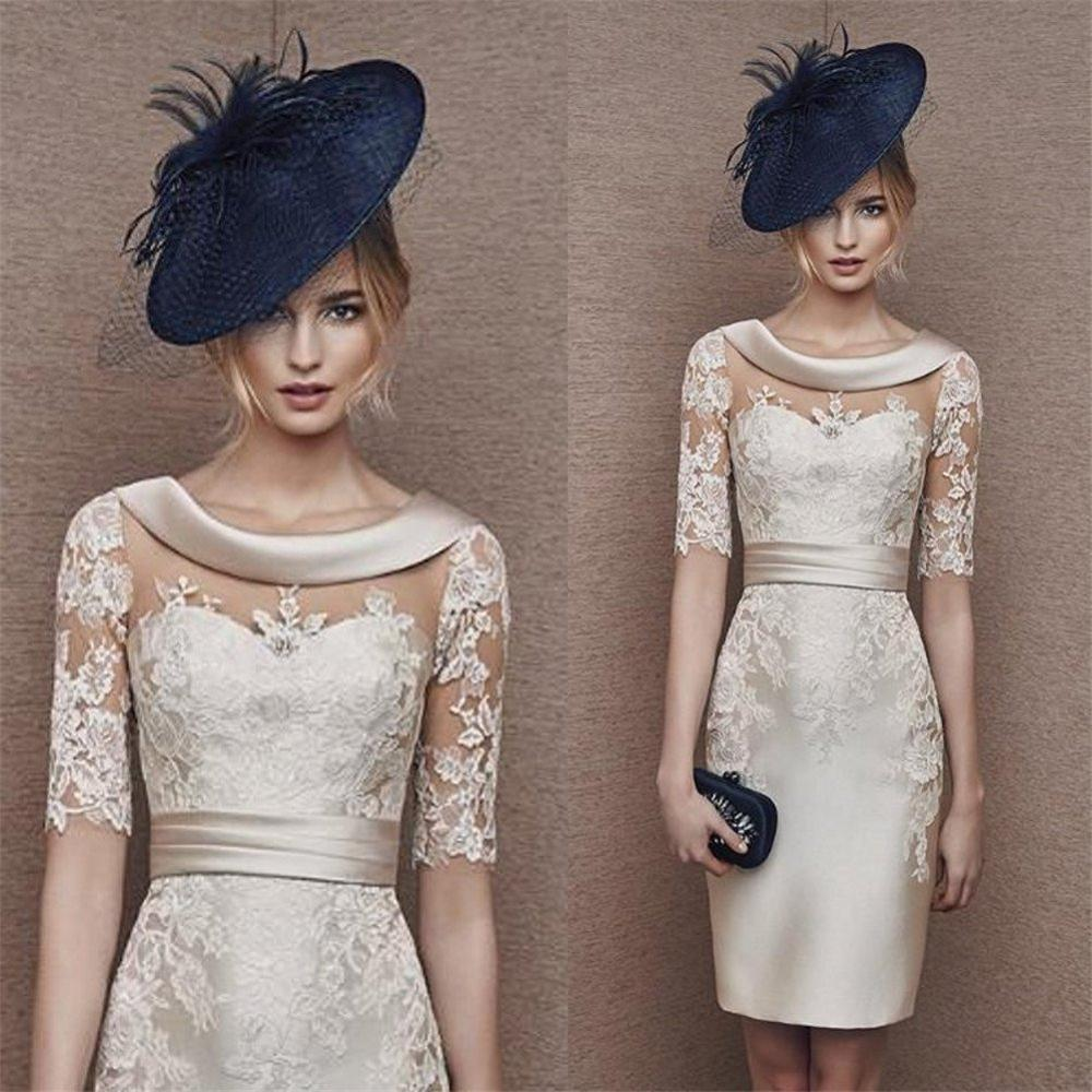 New mid-sleeve lace catch dry bridesmaid ball everyday party dress mom outfit 2019