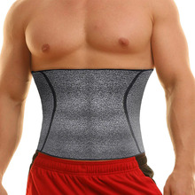NINGMI Men Body Shaper Waist Trainer Fat Compression Brace Modeling Belt Tummy Trimmer Strap Slimming Cincher Neoprene Shapewear