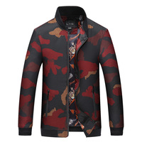 Mens Denim Jacket 2017 men's Fashion Design Camouflage Plus-size Brief Paragraph Bomber Jackets Men Jacket Casual