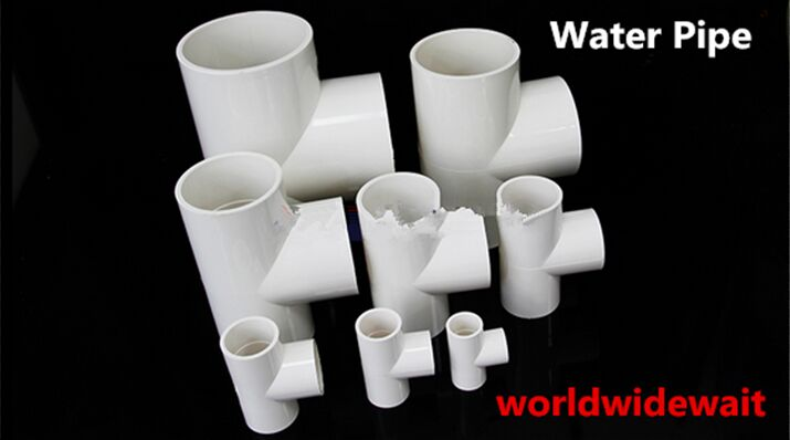 5pcs 20/25/32/40/50/63mm Inner Dia T Shape 3 Way Tee White PVC Water Pipe Connector Fittings