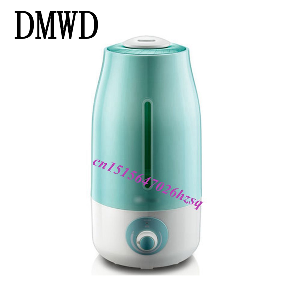 DMWD Mini Humidifier Office household Air Diffuser Absorbent Filter Sticks Portable ABS Water Bottle Cap Aroma Mist Maker