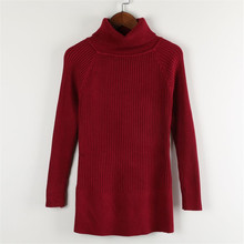 thick polo neck strong ladies's sweaters and pullovers turtleneck knitted shirt bodycon jumper informal girls tops homewear 7529