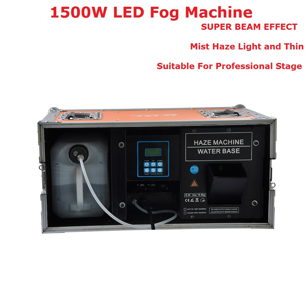 Flight Case Packing 1500W Mist Haze Machine China Stage Laser Equipments 5L Professional Fog Machine For Party Wedding Christmas