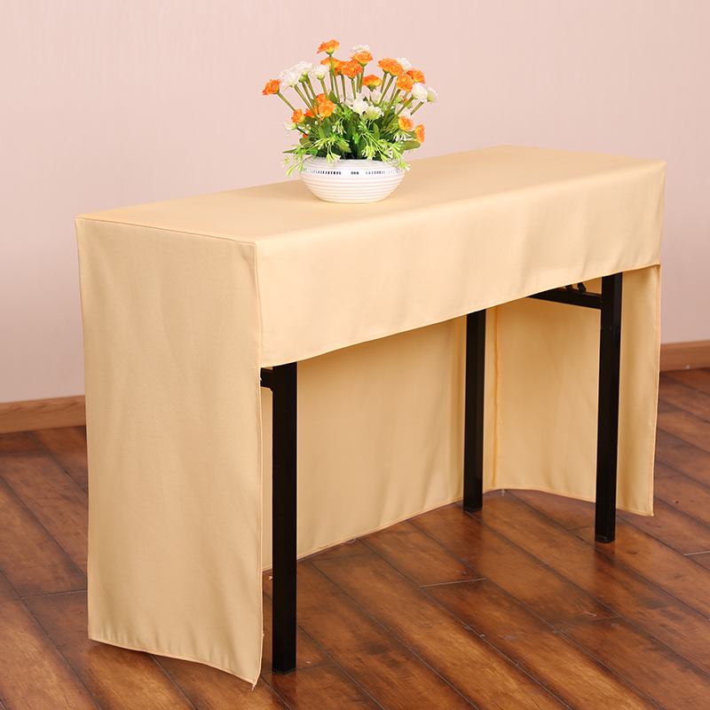 Multi Color Fabric Rectangle Conference Table Cover Full